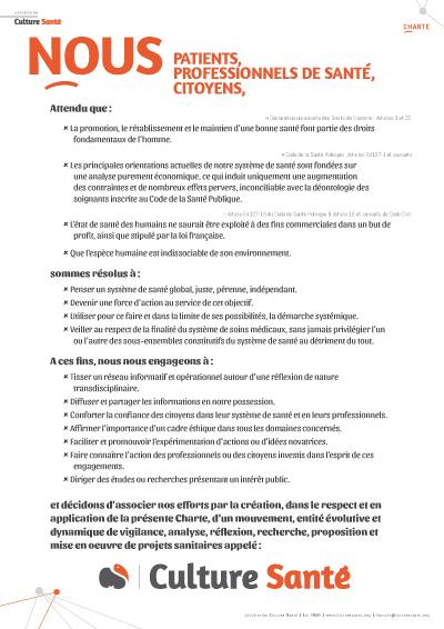Charte Culture Santé en PDF